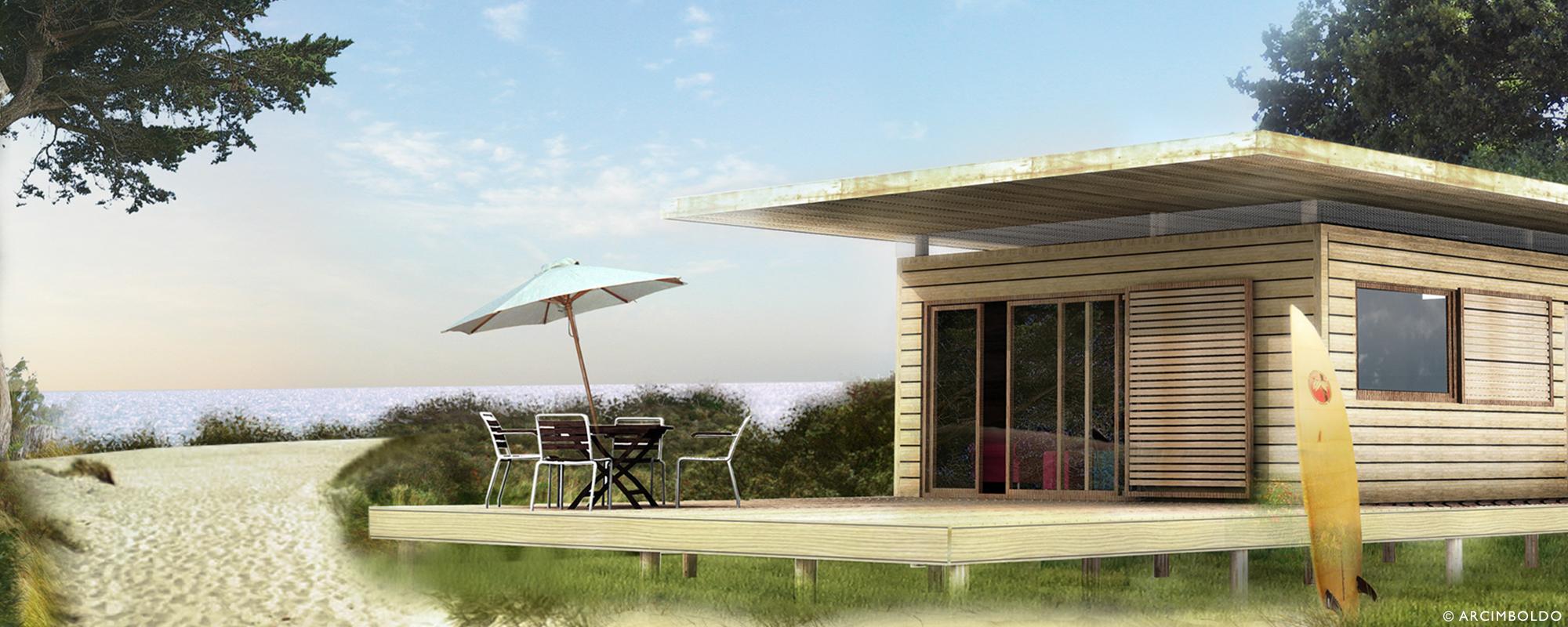 Woodbox, prototype d habitation légère de loisirs